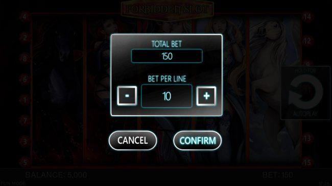 Forbidden Slot :: Betting Options
