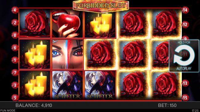 ZigZag777 featuring the Video Slots Forbidden Slot with a maximum payout of $100,000