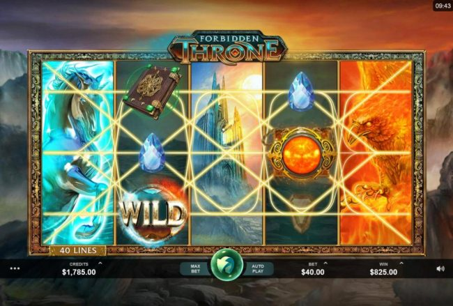 Casinsi featuring the Video Slots Forbidden Throne with a maximum payout of $2,500