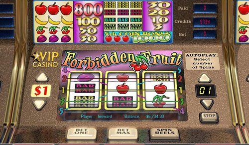 Slot Planet featuring the video-Slots Forbidden Fruit with a maximum payout of 1,000x