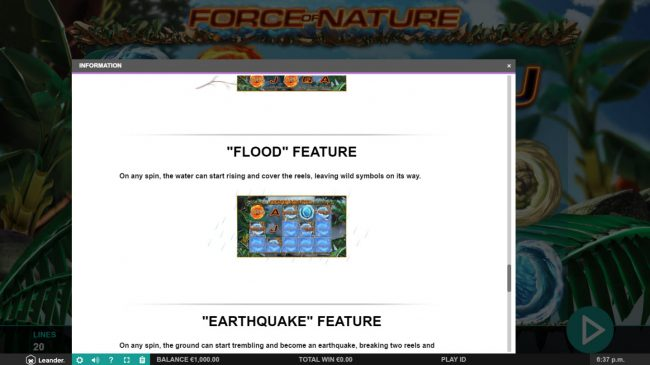 Force of Nature :: Flood Feature Rules