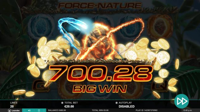 Force of Nature :: Big Win