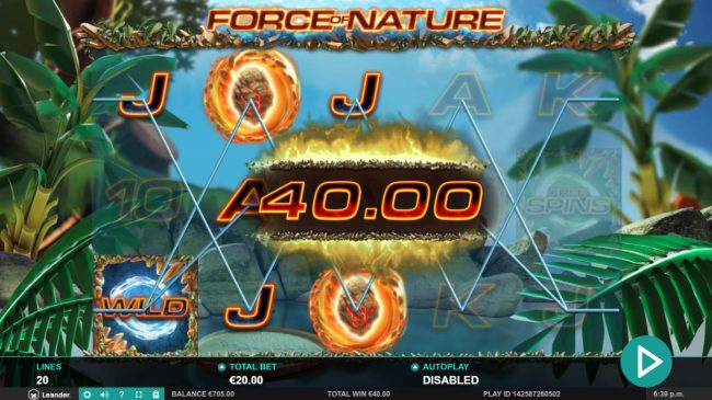 Force of Nature :: Multiple winning paylines