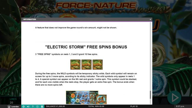 Play slots at Casimba: Casimba featuring the Video Slots Force of Nature with a maximum payout of $100,000