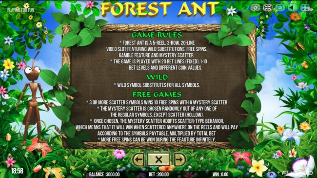 Napoli featuring the Video Slots Forest Ant with a maximum payout of $50,000