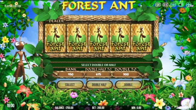 Magik Slots featuring the Video Slots Forest Ant with a maximum payout of $50,000