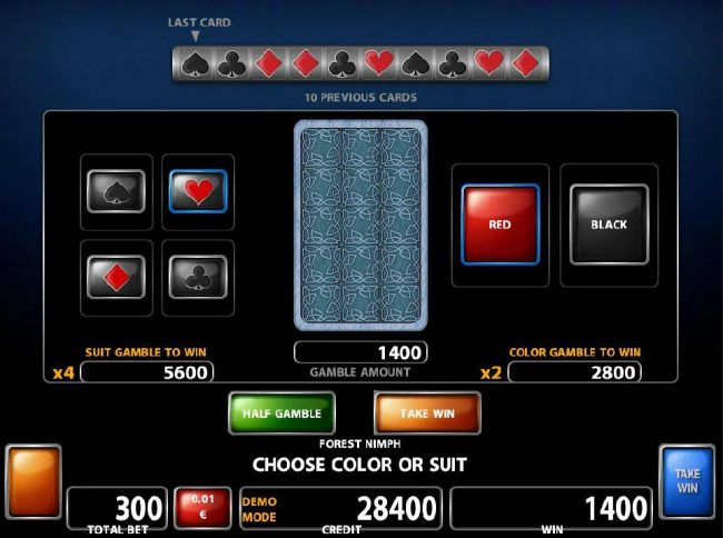 Argo featuring the Video Slots Forest Nymph with a maximum payout of $500,000