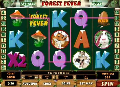 Dasistcasino featuring the Video Slots Forest Fever with a maximum payout of $100,000