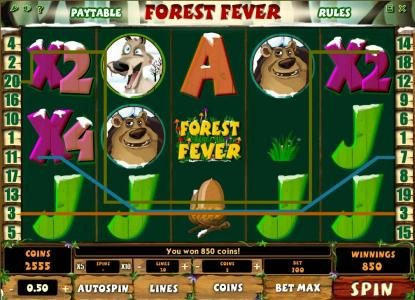 Play slots at Karamba: Karamba featuring the Video Slots Forest Fever with a maximum payout of $100,000