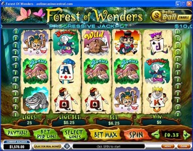 Casino Las Vegas featuring the video-Slots Forest of Wonders with a maximum payout of Jackpot