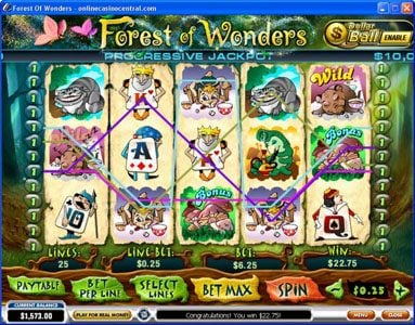 AdamEve featuring the video-Slots Forest of Wonders with a maximum payout of Jackpot