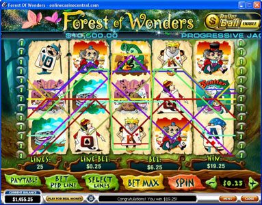 EuroMax Play featuring the video-Slots Forest of Wonders with a maximum payout of Jackpot