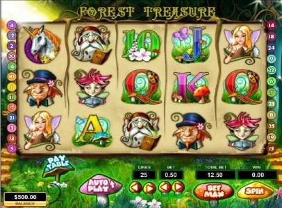 Play slots at Slots Village: Slots Village featuring the Video Slots Forest Treasure with a maximum payout of $12,500