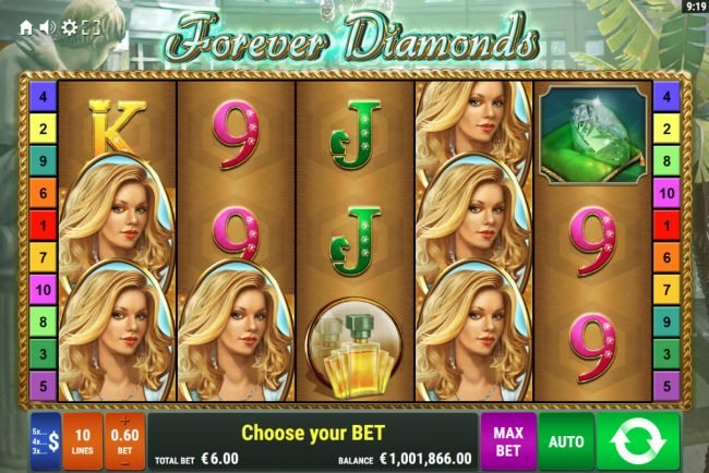 Play slots at Winstar: Winstar featuring the Video Slots Forever Diamonds with a maximum payout of $12,000