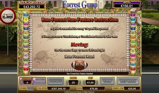 Caesars featuring the Video Slots Forrest Gump with a maximum payout of $50,000