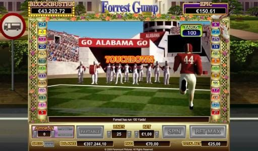 VIP Casino featuring the Video Slots Forrest Gump with a maximum payout of $50,000
