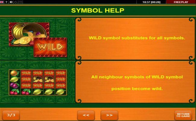 Fortuna's Fruits :: Wild Symbol Rules