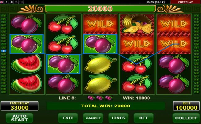 Fortuna's Fruits :: Multiple winning paylines triggers a big win