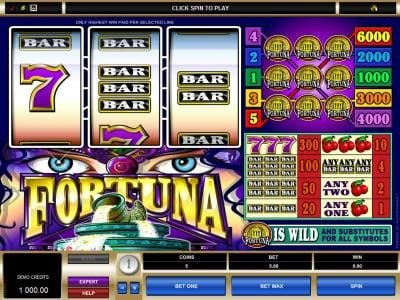 Grand Mondial featuring the Video Slots Fortuna with a maximum payout of $30,000