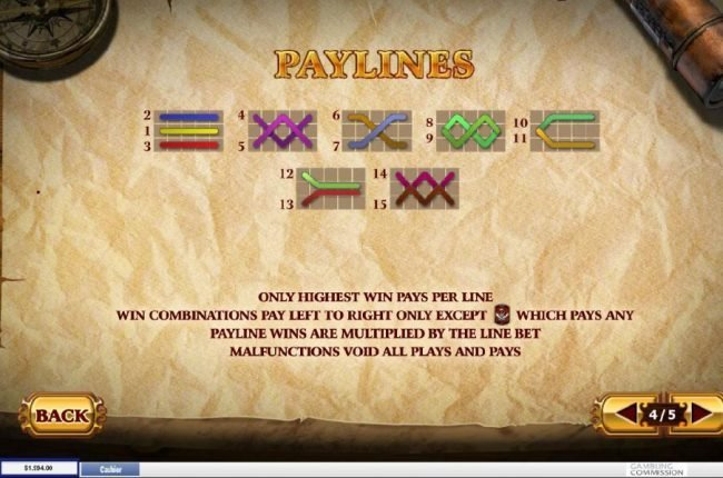 Payline Diagrams 1-15