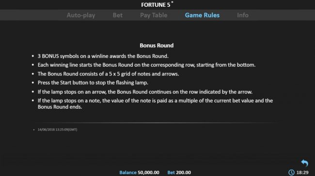 Fortune 5 :: General Game Rules