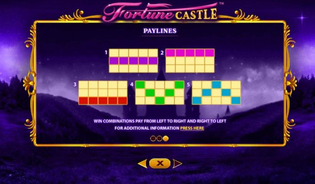 Fortune Castle :: Paylines 1-5