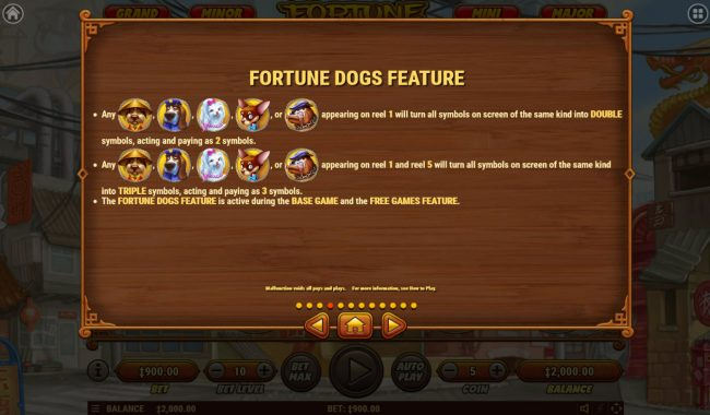 X-Bet featuring the Video Slots Fortune Dogs with a maximum payout of $500,000