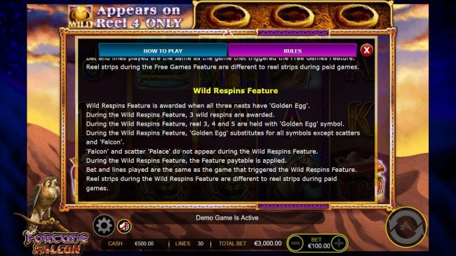 Play slots at Winstar: Winstar featuring the Video Slots Fortune Falcon Wild Respins with a maximum payout of $150,000