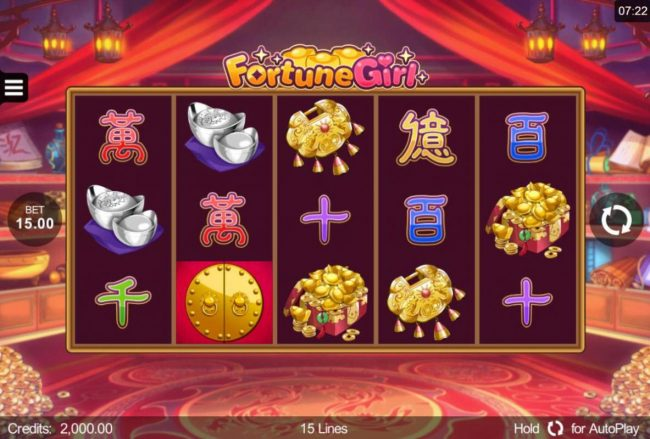Phoenician featuring the Video Slots Fortune Girl with a maximum payout of $90,000