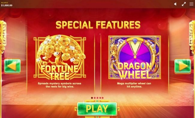 Fortune House :: Fortune Tree - Spreads mystery symbols across the reels for big wins. Dragon Wheel - Mega multiplier wheel can hit anytime.