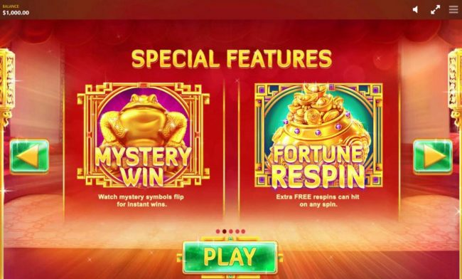 Fortune House :: Mystery Win - Watch mystery symbols flip for instant wins. Fortune Respin - Extra FREE respins can hit on any spin.