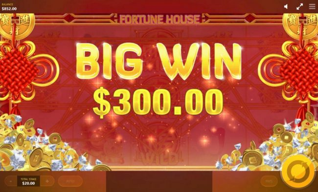Fortune House :: A 300.00 Big Win!