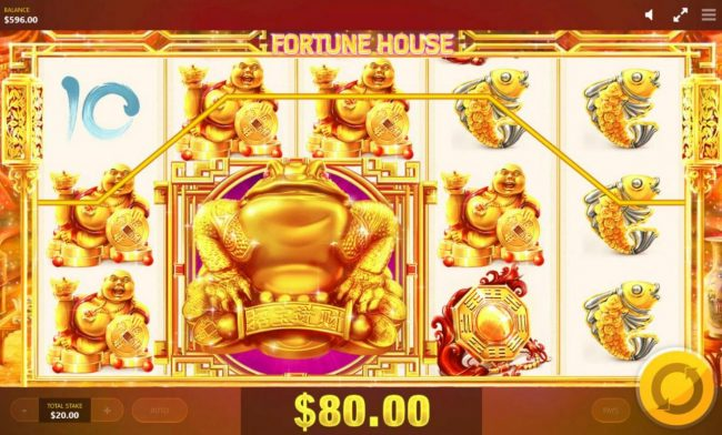 Play slots at Clover Casino: Clover Casino featuring the Video Slots Fortune House with a maximum payout of $12,500