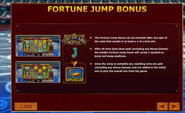 Fly Casino featuring the Video Slots Fortune Jump with a maximum payout of $12,500