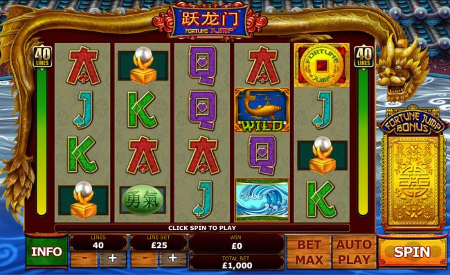 Play slots at Palace VIP: Palace VIP featuring the Video Slots Fortune Jump with a maximum payout of $12,500