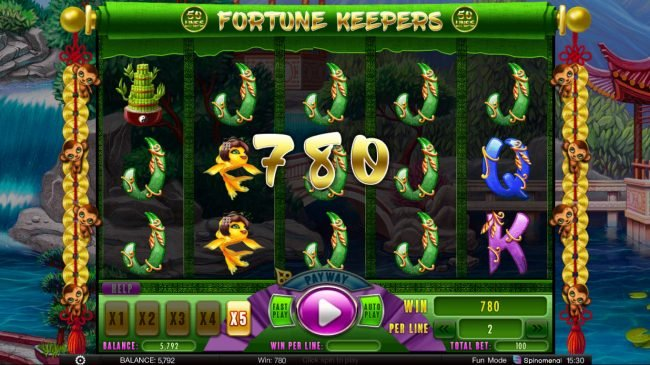 24 Vip featuring the Video Slots Fortune Keepers with a maximum payout of $200,000