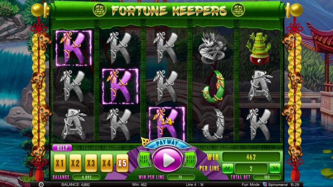 Fortune Keepers :: Multiple winning paylines