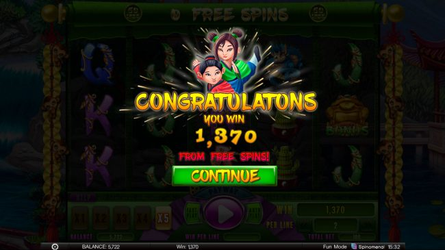 Fortune Keepers :: Total Free Spins Payout
