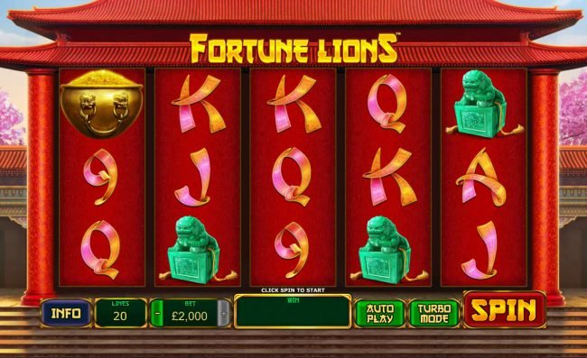 City Club Casino featuring the Video Slots Fortune Lions with a maximum payout of $500,000