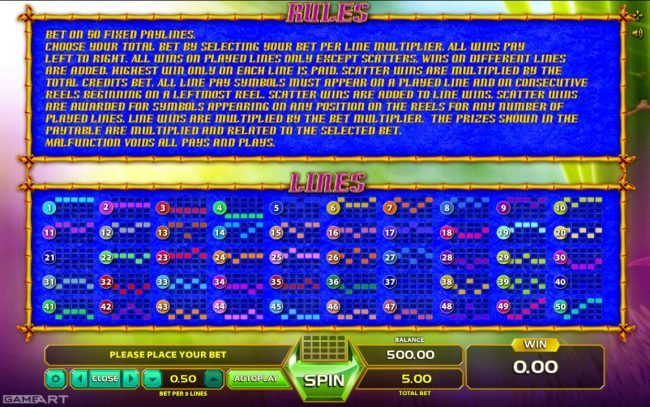 Joker Casino featuring the Video Slots Fortune Panda with a maximum payout of $100
