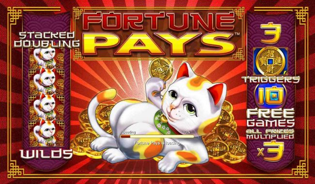 Fortune Pays :: Game features include: Stacked Doubling Wilds and Free Games with all prizes tripled.