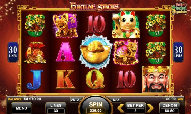 Play slots at Reel Vegas: Reel Vegas featuring the Video Slots Fortune Stacks with a maximum payout of $300
