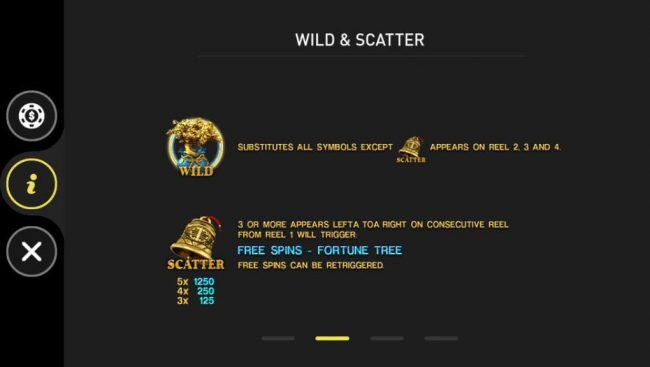 Fortune Tree :: Wild and Scatter Symbols Rules and Pays