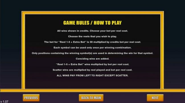 Fortune Wheel :: General Game Rules
