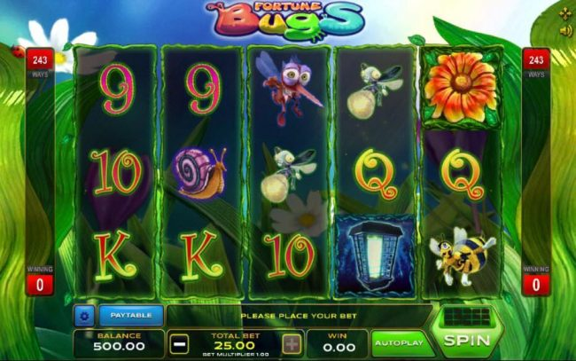 Play slots at Cbet: Cbet featuring the Video Slots Fortune Bugs with a maximum payout of $1,250