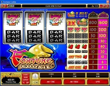 Grand Hotel featuring the Video Slots Fortune Cookie with a maximum payout of $16,000