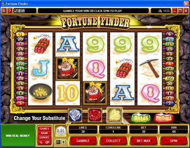 Dragonara featuring the Video Slots Fortune Finder with a maximum payout of $30,000