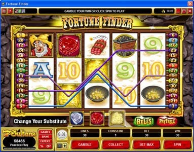 Play slots at Vegas Joker: Vegas Joker featuring the Video Slots Fortune Finder with a maximum payout of $30,000
