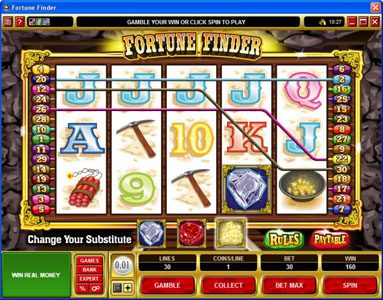 Luxury featuring the Video Slots Fortune Finder with a maximum payout of $30,000