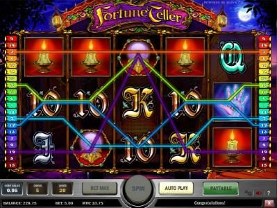 multiple winning paylines triggers a $33.50 jackpot